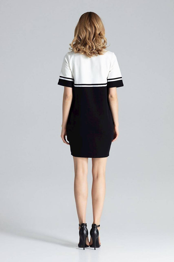 Colour Block Mini Dress M400