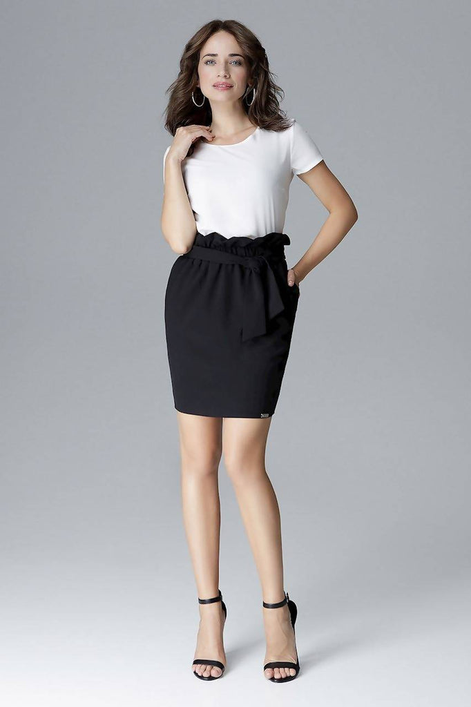 Tailored Paper Bag Skirt L019