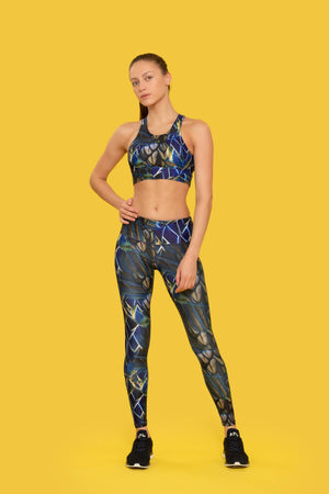BIRDS OF PARADISE PRINT LEGGINGS made with Recycled Plastic