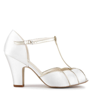 Satin 'Chandler' High Heel T-bar Sandals