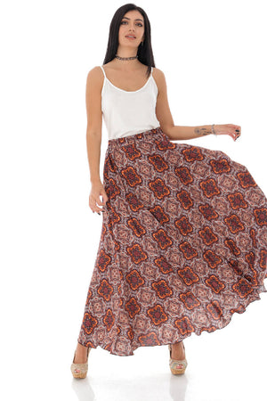 Full skirted maxi in a paisley print - Aimelia - FR487