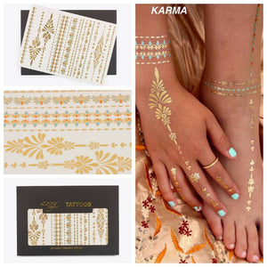 Karma Temporary metallic Tattoos