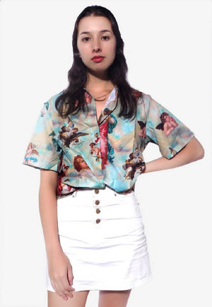 Retro Cherub Oversized Shirt