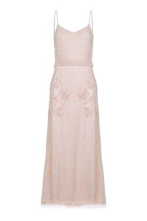 Chicago Maxi Dress in Champagne Blush