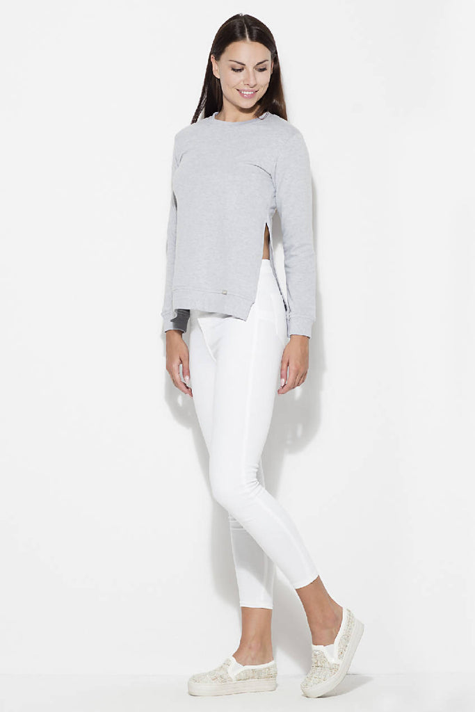 Womens blouse with side slit by Katrus