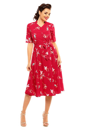 "Ladies Retro Vintage 40's Style ""Maria"" Shirt Dress"