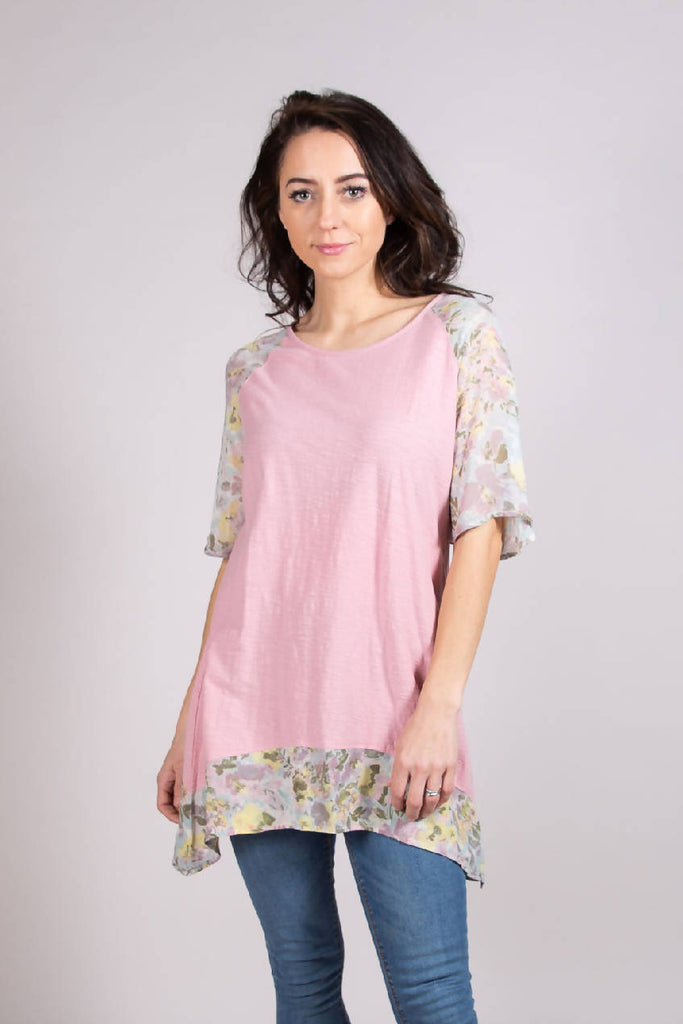 6367 TUNIC ROSE SLUB