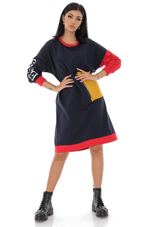 On Trend oversize colourful tunic - AIMELIA - DR4211