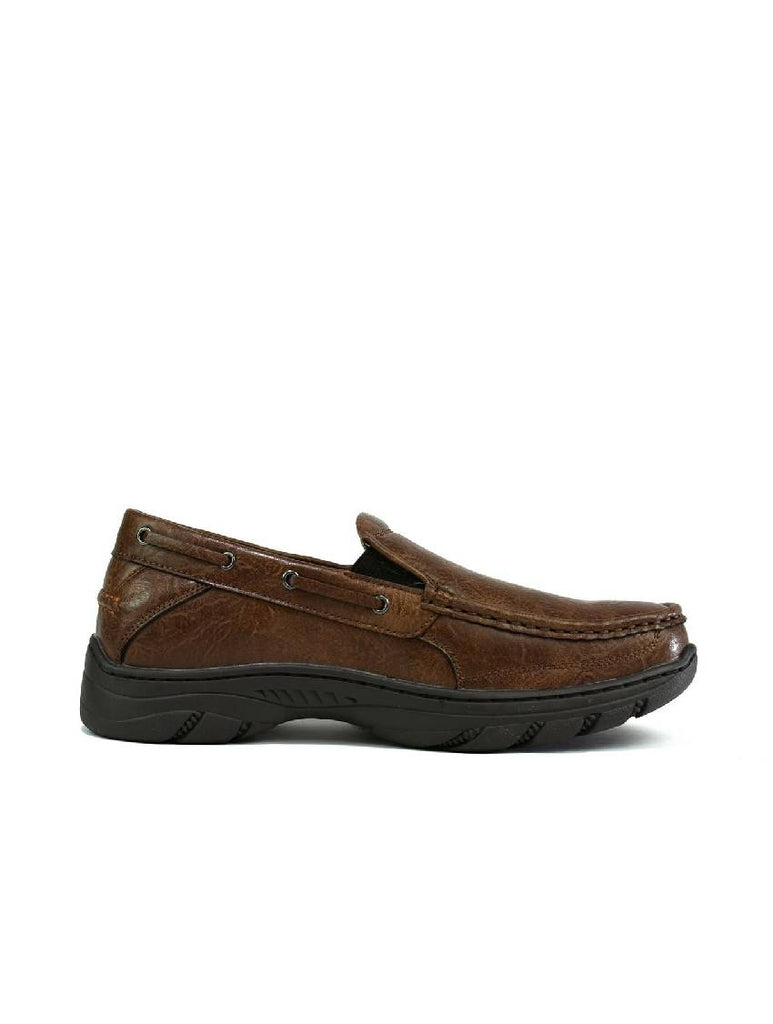 MSH-8144 1907-3 SLIP ON SHOES - BROWN - PACK OF 12 - SIZE 6 TO 11