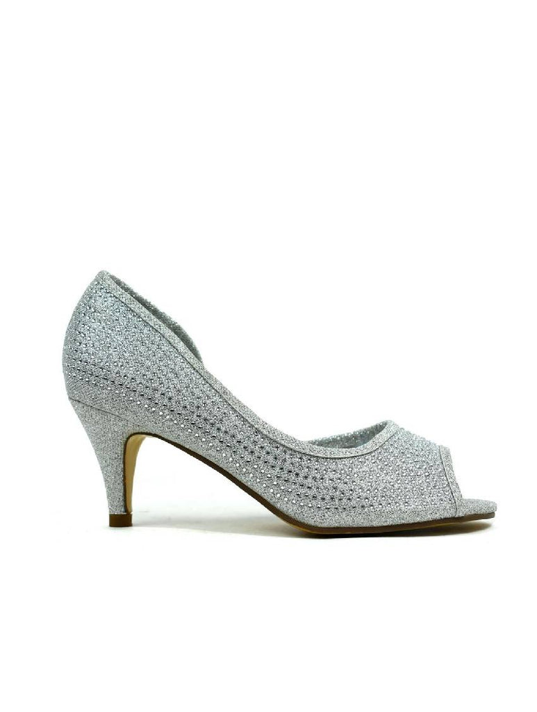 LSH-6449 OPEN TOE POINT HEEL SHOE