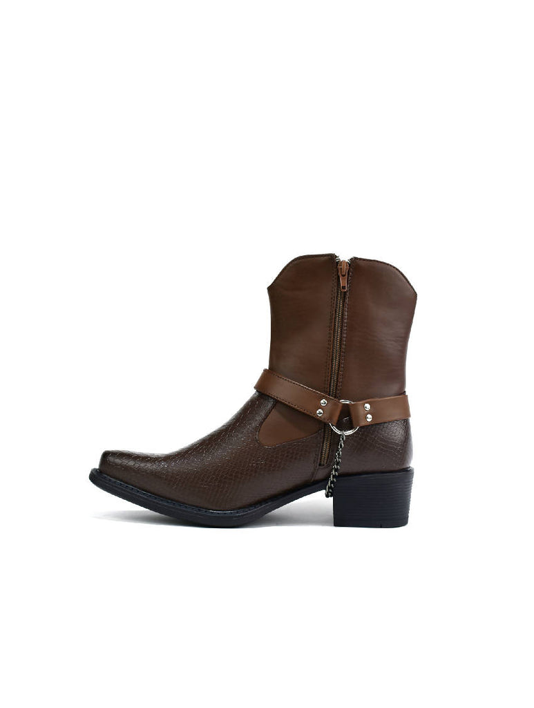MBO-5908 BROWN HIGH COWBOY BOOT - sizes 6-11