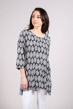 LEAF001 TUNIC BLACK