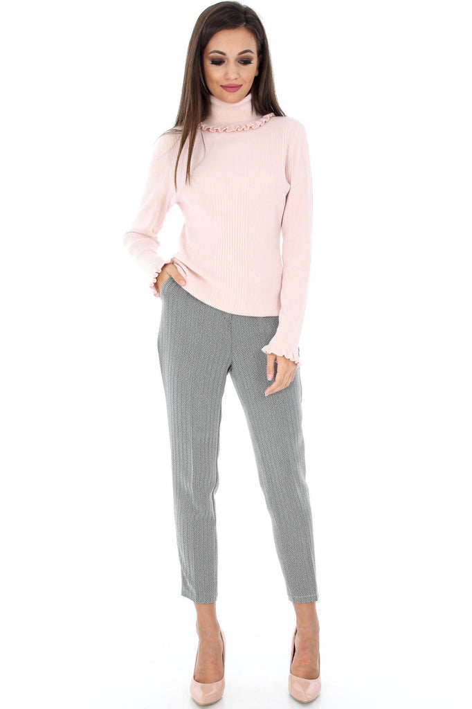 Grey and white trousers, Aimelia - TR211