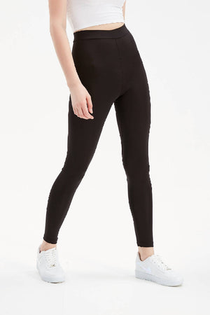 Women Black Regular Waist Slimming Leggings