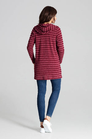 Deep Red Hooded Sweater