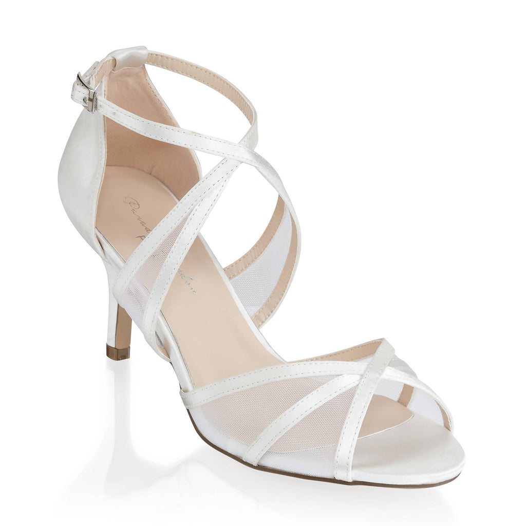 Helka Extra Wide Fit Ankle Strap Sandal - Ivory