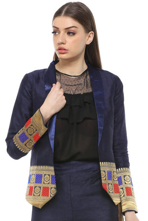 Fusion Sustainable Ladies Long Sleeves Formal Fitted Blazer