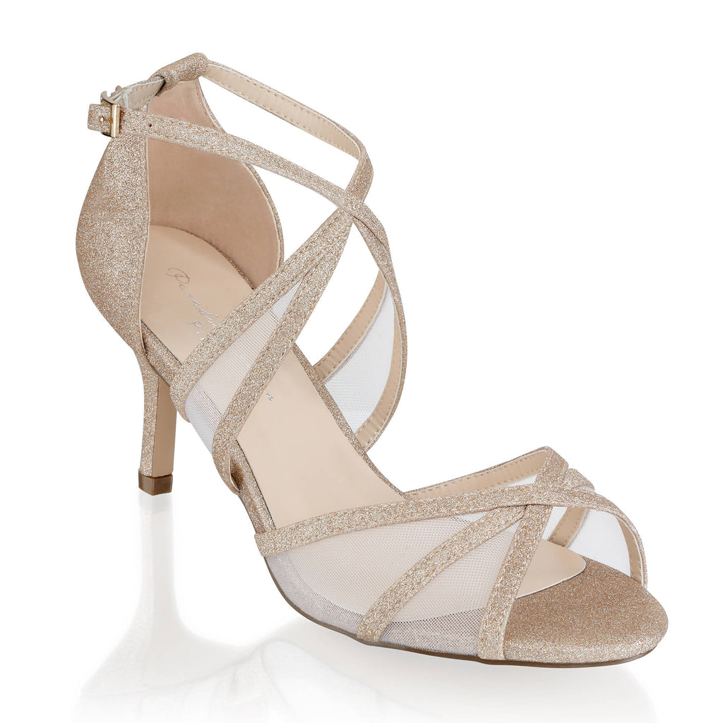 Helka Extra Wide Fit Ankle Strap Sandal - Gold
