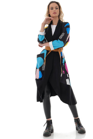 Colourful oversized waterfall jacket - Aimelia - JR538