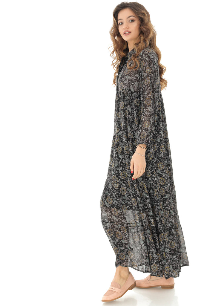 Black printed maxi dress Aimelia - DR3782