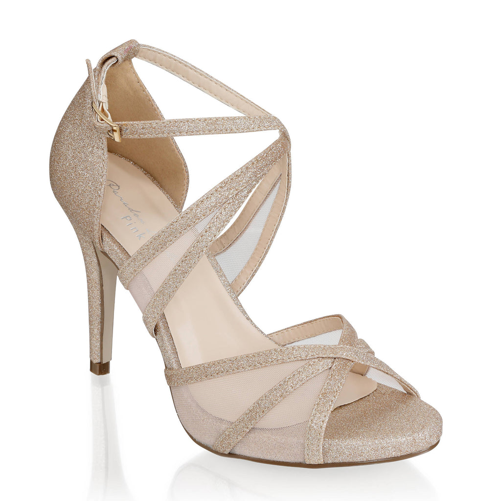 Hinoa' Mid Heel Ankle Strap Sandal - Gold