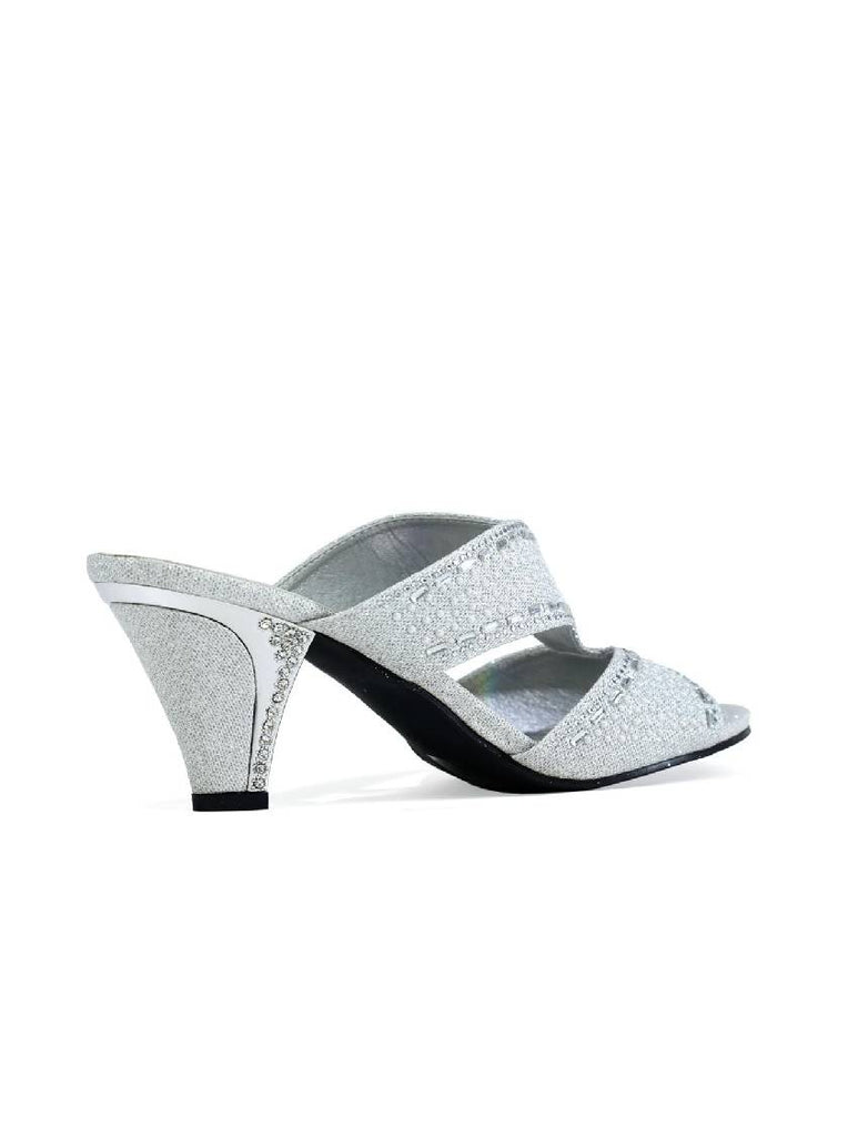 LSA-5314 STRICTLY STONE SANDAL IN SILVER