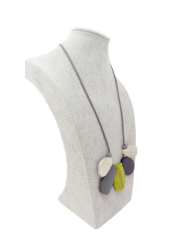 AN39N NECKLACE LIME MULTI