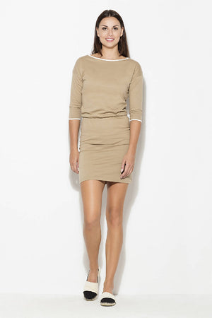Womens Dress by Katrus- Grey and Beige