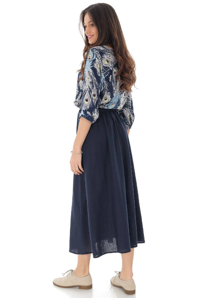 A-line skirt with false pockets, Aimelia - FR473