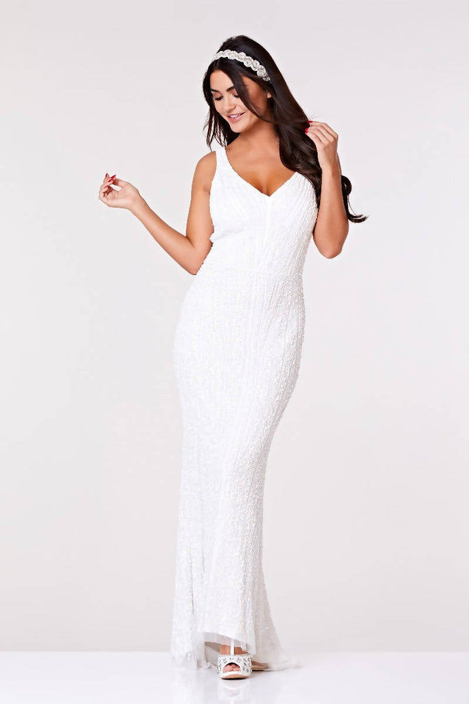 Hand Embelished Sophie Maxi Wedding Dress - Plus Size