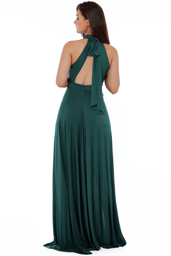 POLYTECH HIGHNECK MAXI DRESS