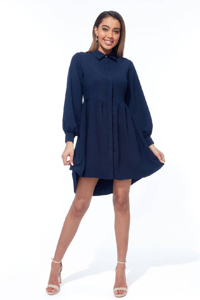 Shirt Dress with gathering