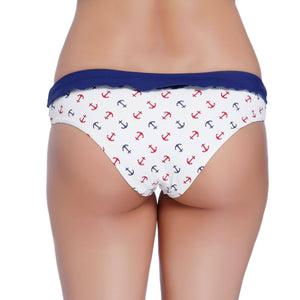 Sail Away with Me ANCHOR PRINT BIKINI BOTTOM
