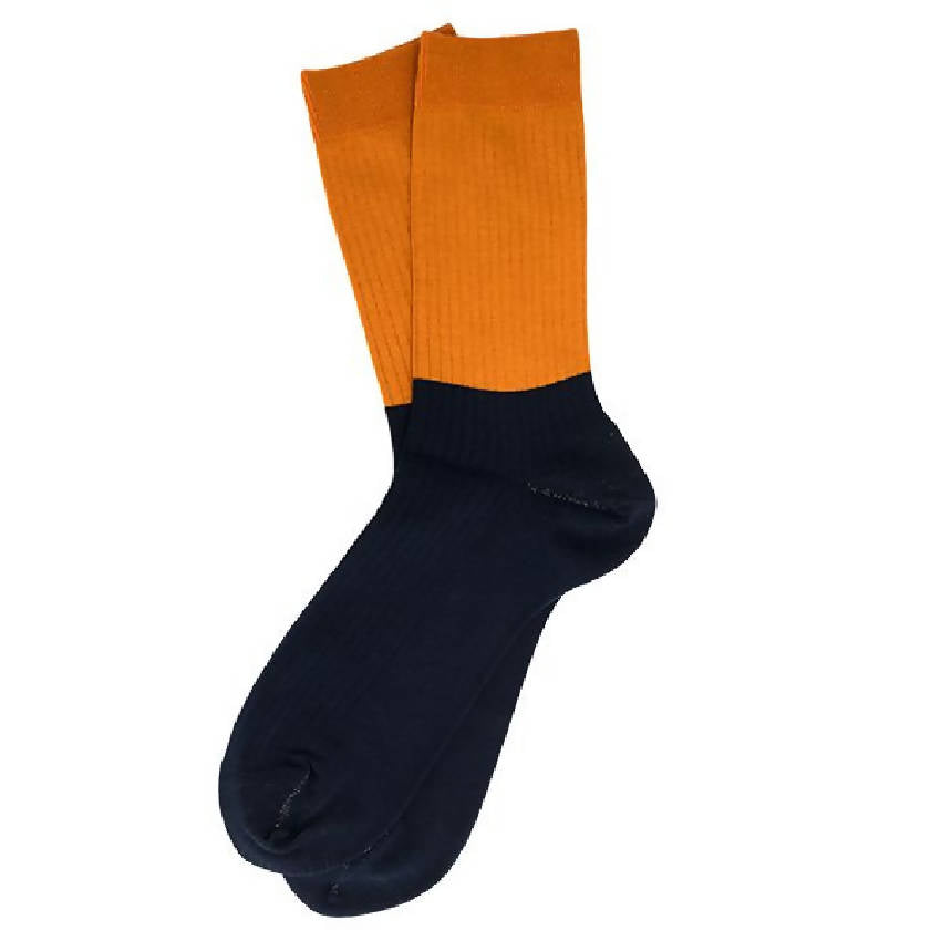 SUVA Antibacterial X-Static® silver fiber color block crew socks - Men