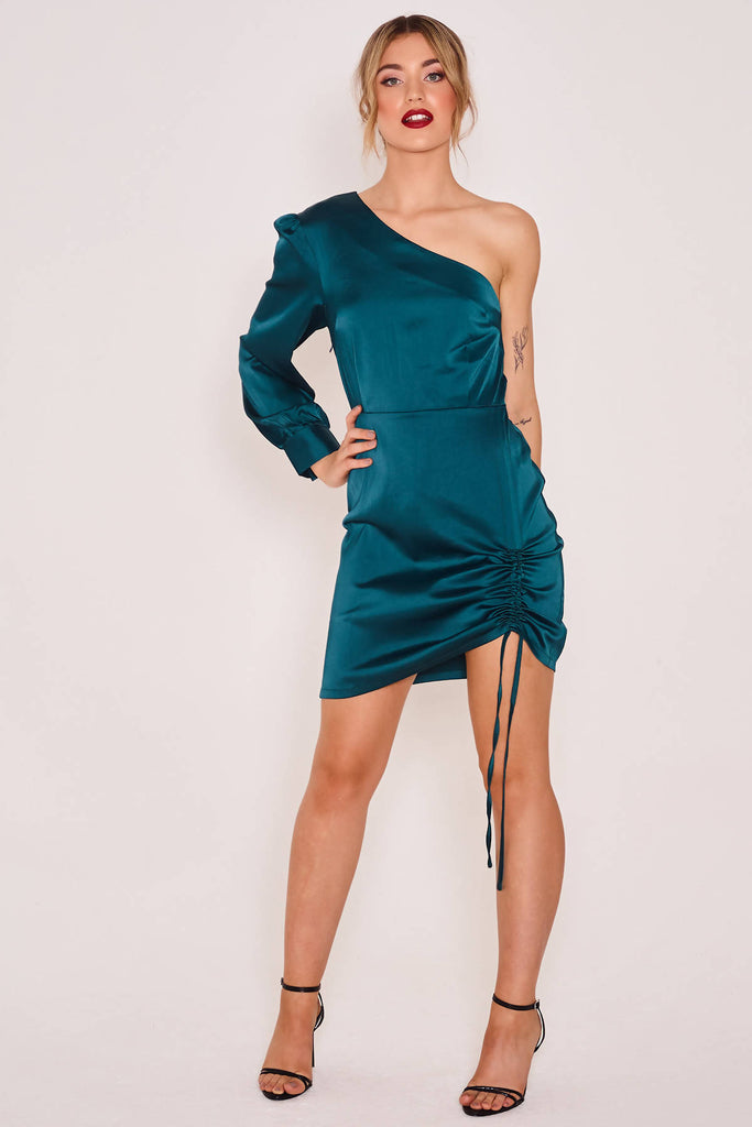 Tam One Sleeve Mini Dress
