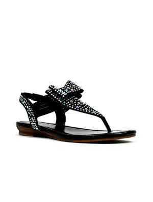 LSA-8057 PZ 317 BOW STRAPPY SANDAL - BLACK