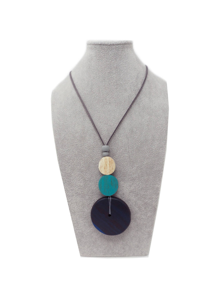 AN14N NECKLACE NAVY MULTI