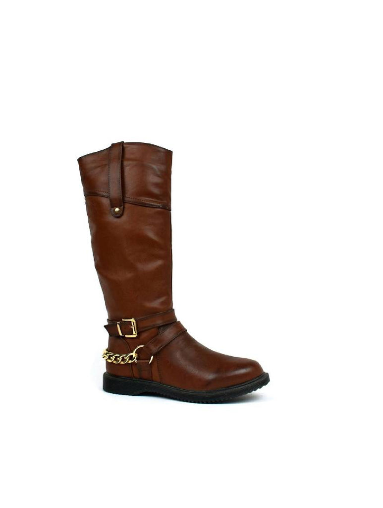 LBO-4960 W15-206-AFC-4 KNEE HIGH - DARK BROWN - PACK OF 12 - SIZE 3 TO 8