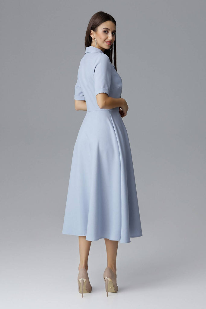 Double Breasted Shirt Dress M632