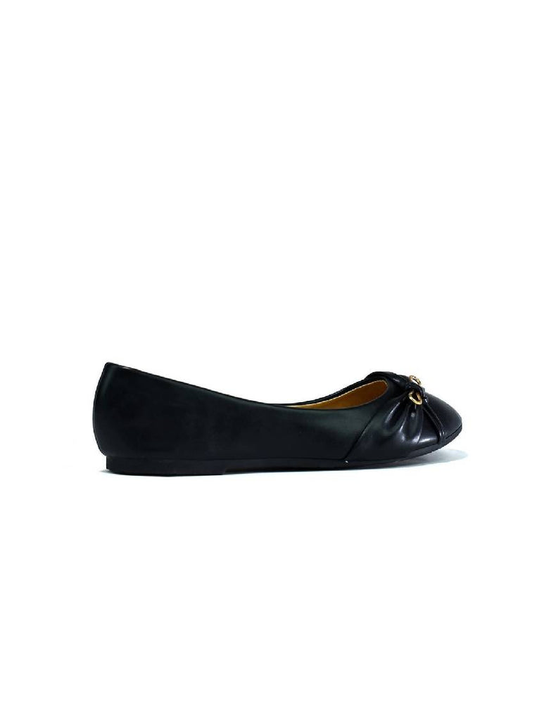 LSH-8124 LADIES BELLERINA SHOES BLACK