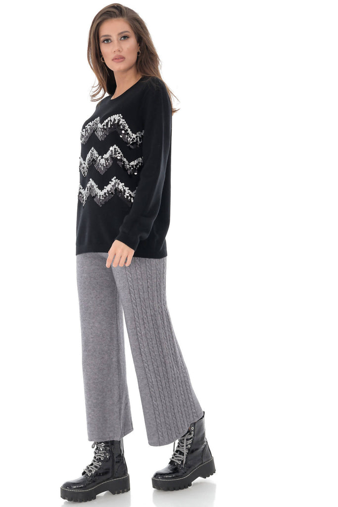 Delicate soft warm jumper with sequins, Aimelia - BR2217