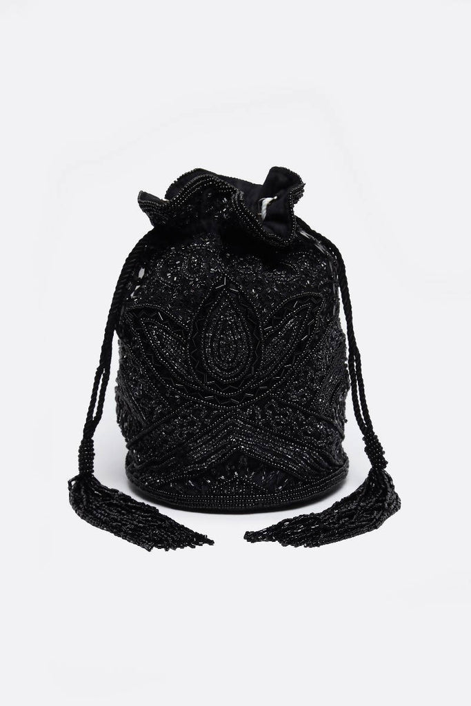 Beatrice Hand Embellished Bucket Bag