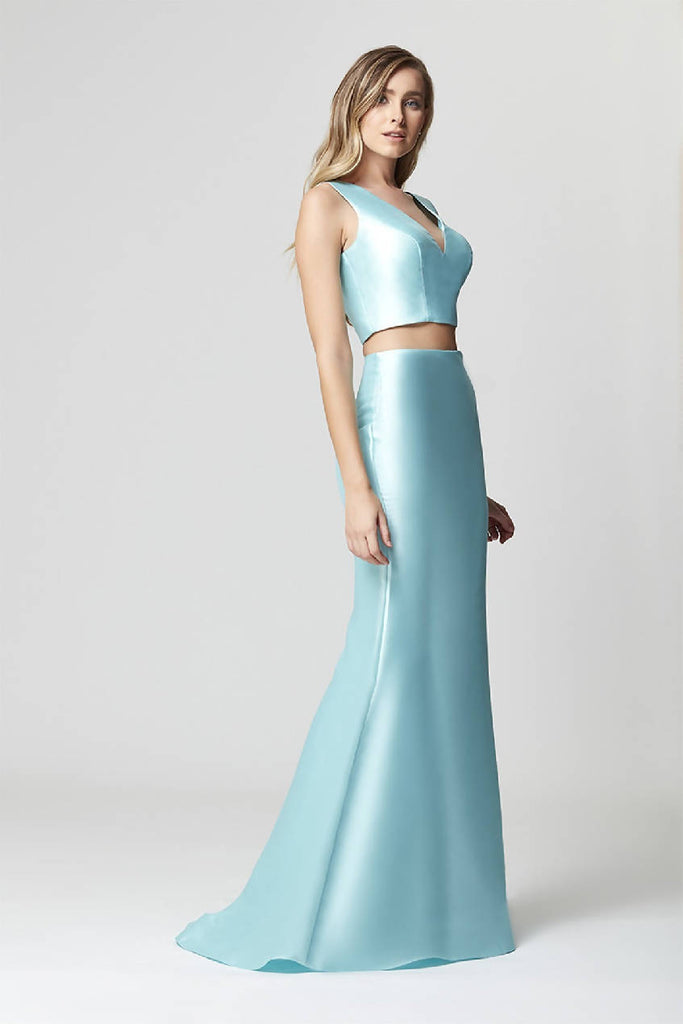 Straight V-Neck Maxi Dress