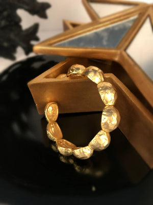 Gold Plated Spring Bangle