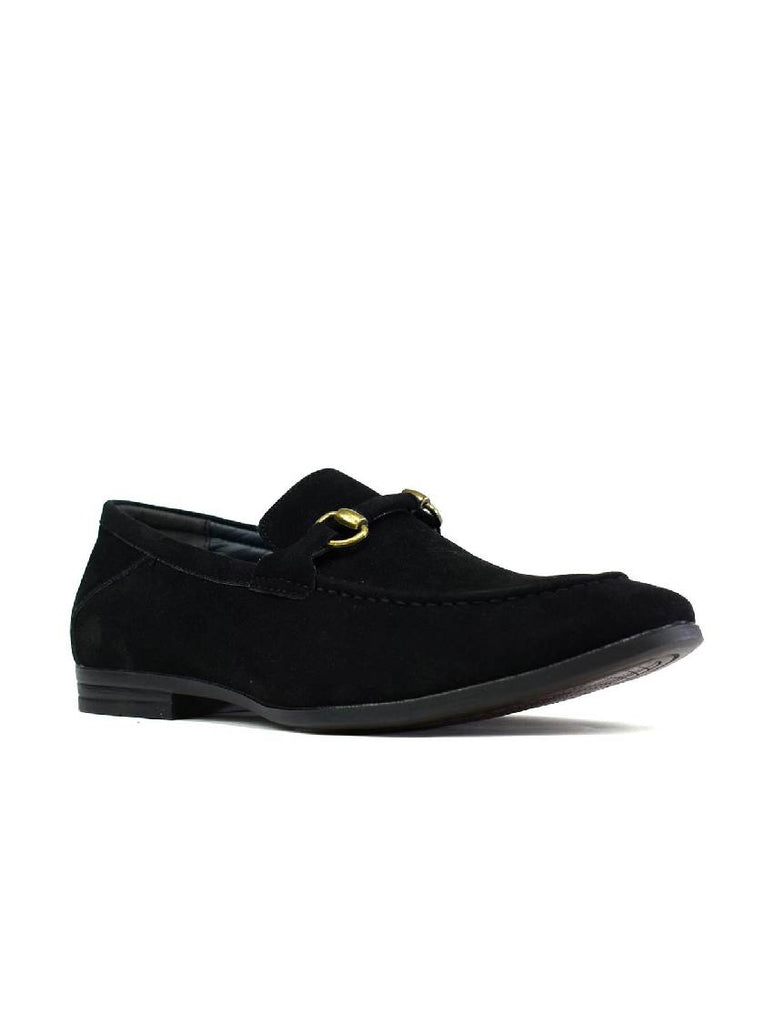 MSH-8141 3106-1 STITCHED BUCKLE SLIP ON SHOES - BLACK - PACK OF 12 - SIZE 6 TO 11