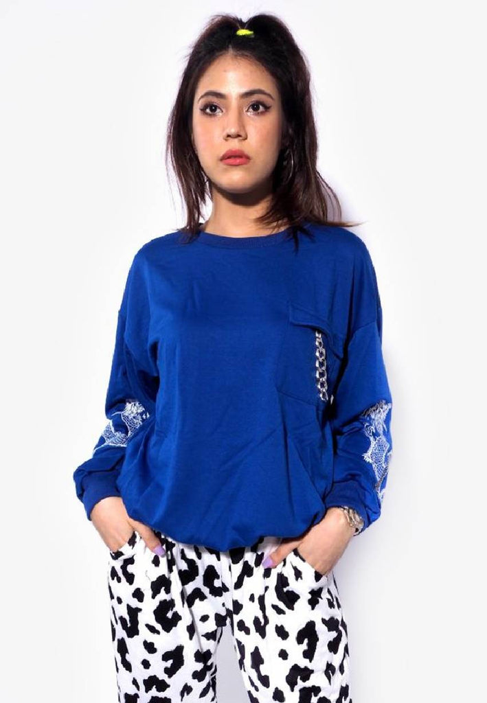 Dragon Embriodery Long Sleeve Top