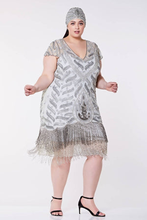 Vegas Vintage Inspired Fringe Dress - Plus Size