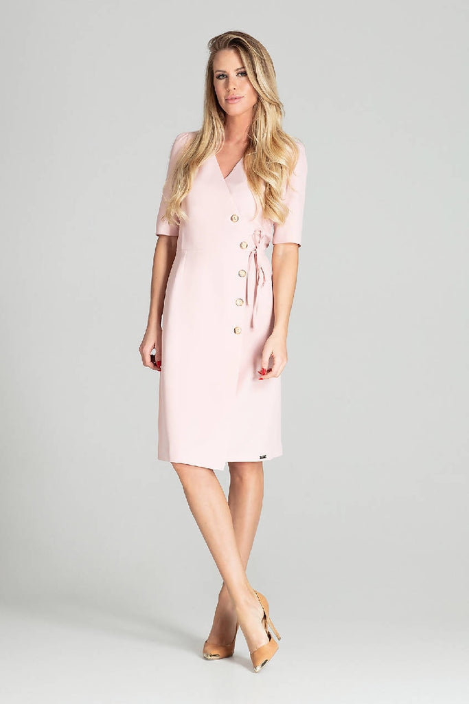 Long shirt dress with a 3/4 sleeve M701
