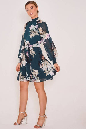 Darcy Floral High Neck Dress