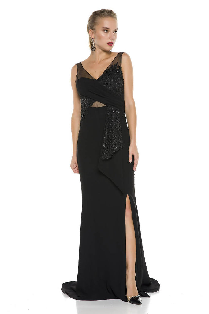 Maxi Dress with Decollete and Slits
